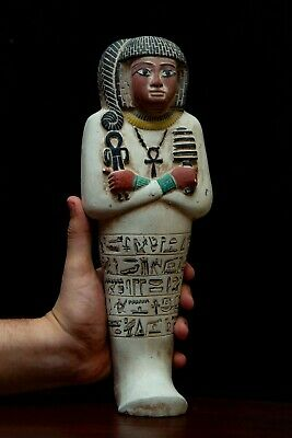 EGYPTIAN STATUE ANTIQUITIES Ushabti KING EGYPT RAMSES II Shabti STONE 1279 BC