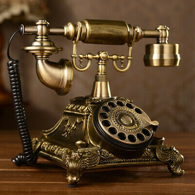 Rotary Dial Phone Handset Telephone Vintage Antique European Style Old Fashioned