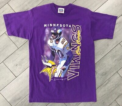 Vintage Men's 1997 Minnesota Vikings NFL Chris Carter T Shirt Size Medium 90s