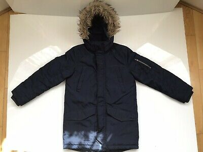 Girls H&M Navy Winter Jacket with Detachable Hood Size EUR 140 US 9-10 Years