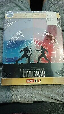 New Captain America Civil War 2D Blu-ray / Digital Steelbook Bestbuy Exclusive