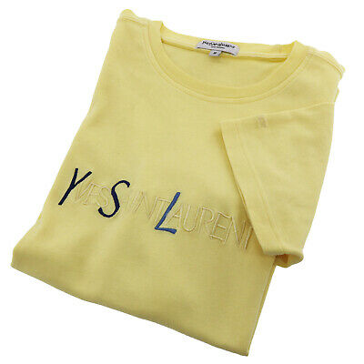 Yves Saint Laurent Short Sleeve Tops T-shirt Size S Yellow China Auth #X414 M