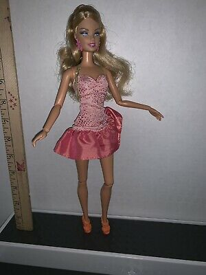 Barbie Fashionistas Pink Dress Jointed Articulated Barbie Doll