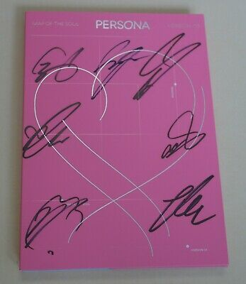 BTS Autographed Signed Map of the Soul PERSONA Boy with Luv PROMO CD Rare #3