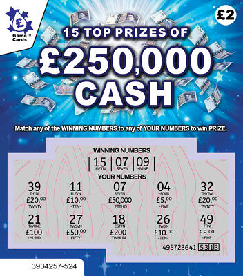 £50,000 Funny Birthday Card Gift JOKE Lottery Scratchcard Scratch Off Ticket LOL