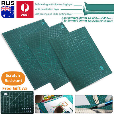 (Gift A5)A1 A2 A3 Large Thick Self Healing Cutting Mat Double-Side Art Craft DIY