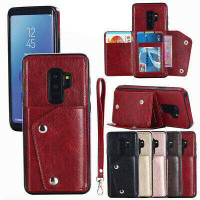 Magnetic Leather Wallet Case Card Slot Flip Cover For Samsung Galaxy Note 8 9