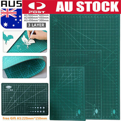 A1/A2/A3 Thick Self Healing Cutting Mat 2 Side Scrapbooking Quilting+Gift A5 AU