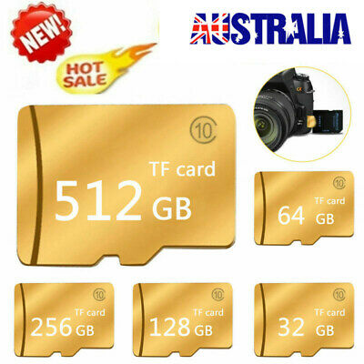 512GB Micro SD SDXC HC TF Flash Memory Card Class 10 with Reader For Cellphones
