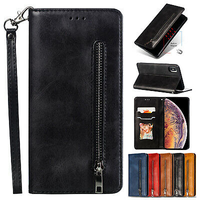 For iPhone XS Max XR 7 8 6s Plus Wallet Zipper Case Magnetic Leather Flip Cover
