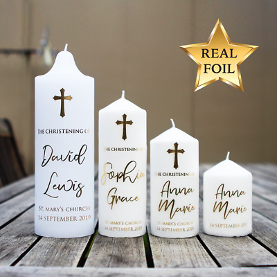 Personalised Wedding/Baptism/Christening/Naming Day/Memorial Candle Decal