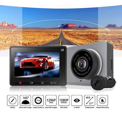 YI 1296P Smart Dash Kamera 2.7in 165° ADAS Weltraum Grau Sicher Dash Cam Single