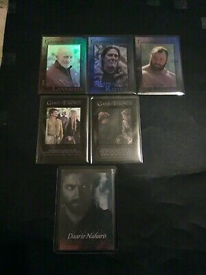 2015 Rittenhouse Game Of Thrones Various Insert Lot Of 6