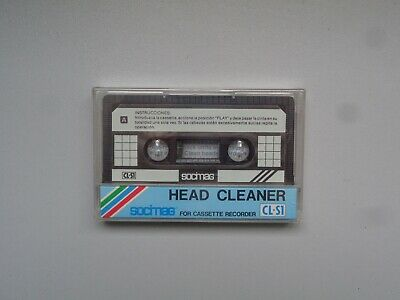 Cassette Audio de Nettoyage SOCIMAG CL-S1 Head Cleaner - K7 Neuf