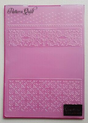 "Couture Creations 'PATTERN QUILT' 5""x7"" Embossing Folder"