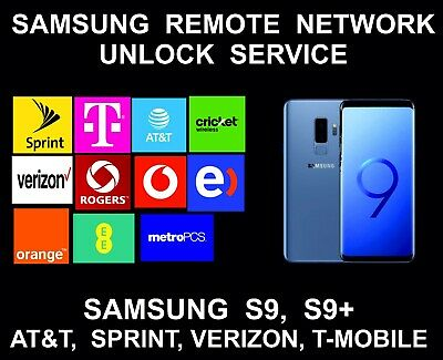 Samsung S9, S9 Plus Remote Unlock Service, AT&T, Sprint, Verizon, T-Mobile, Metr