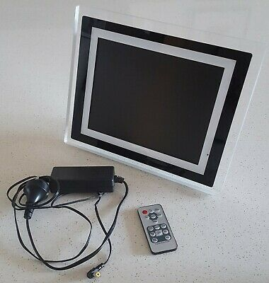"""10.25"""" Digital Photo Frame with Speaker and Remote"""
