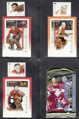 2015 NHL Canada Post Hockey Stamp Cards With Stamps & Souvenir Sheet