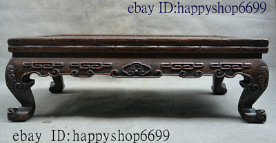 Collect Old Chinese Huang Huali Wood Carving Dyansty Palace Tea table Kang Table