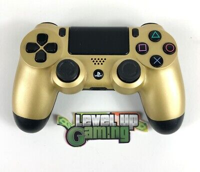 Sony PS4 Official DualShock 4 Gold Controller **FREE UK POSTAGE**