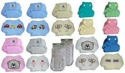 Kashmir Baby 2 Pack Hemp /Organic One Size Diapers, 2 Hemp Inserts