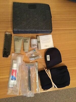 2x Complimentary British Caledonian First Class Blue Wash Bags And Amenity Kits A Great Variety Of Goods Collectables