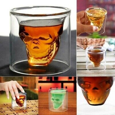 4Pcs/Set SkullHead Whiskey Tequila Shot Glass Fun Party Wine Beer Drinking Cup