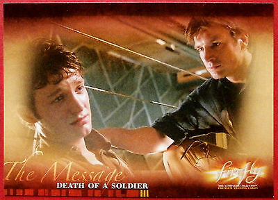Joss Whedon's FIREFLY - Card #48 - Death of a Soldier - Inkworks 2006