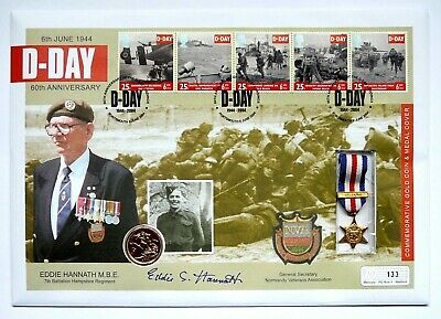 2004 Royal Mint Full Gold Sovereign 60th Anniversary of the D-Day Landings FDC.