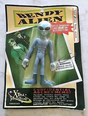 NEW Vintage 90's Bendy Alien, Easy Aces, UFO Roswell Bendable 6 Inch, Rare