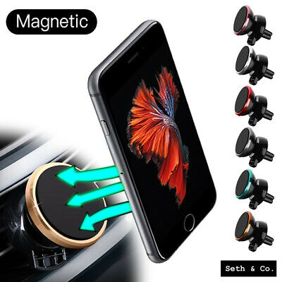 UNIVERSAL In Car Phone MAGNETIC Holder Air Vent Mount 360° iPhone/Samsung Mobile