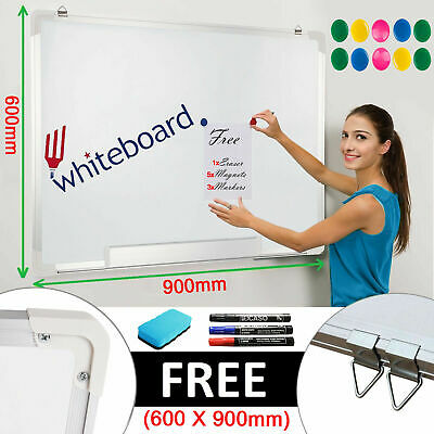 900x600 Magnetic Dry Wipe Whiteboard White Notice Memo Board Office School Home