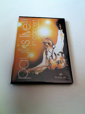 """PAUL McCARTNEY """"PAUL IS LIVE!!! IN CONCERT ON THE NEW WORLD TOUR"""" DVD COMO NUEVO"""