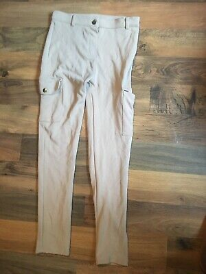 River Island Girls Cream Pocket Utility Pants Trousers 9 To 10 Years