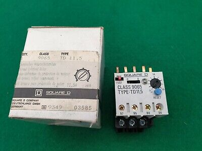 Square D 9065 TD11.5 Overload Relay 11.5 - 16  Amp