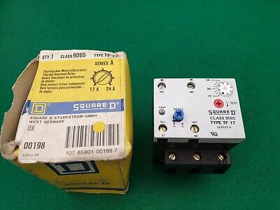 Square D 9065 TF17 Overload Relay 17 - 24  Amp