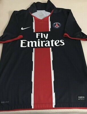 035e9edaf83 NIKE DRI FIT Paris Saint Germain #10 Ibrahimovic Home Jersey Size ...