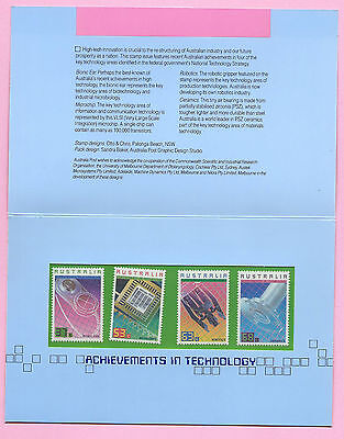 AUSTRALIA 1987 Presentation Stamp Pack - ACHIEVEMENTS IN TECHNOLOGY -  MNH