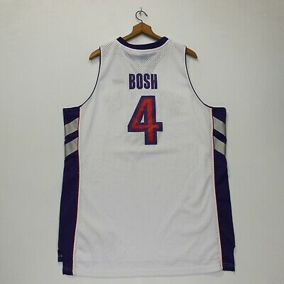 fda74a16942 Vintage Chris Bosh #4 Toronto Raptors NBA Reebok Jersey Size XL Purple White