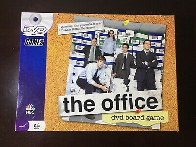 The Office DVD Board Game Trivia Dunder Mifflin Pressman 2008 NBC COMPLETE
