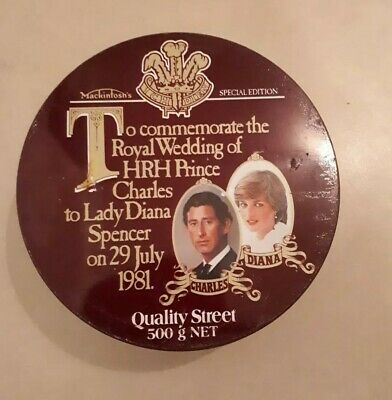 Prince Charles And Lady Diana Commemorative Tin Quality Street