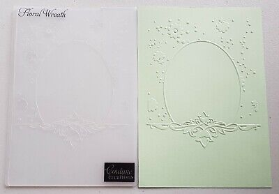 "Couture Creations ""FLORAL WREATH' 5""x7"" Embossing Folder"