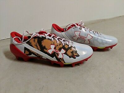 9e81d53fc77e Under Armour Spotlight LE CALIFORNIA Bear Flag Football Cleats 13 (1275481 -130)