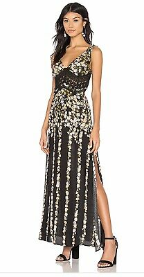 5e57d14f47cf Free People Women's Claire Lace Trim Floral Printed Maxi Dress Size XS - NWT