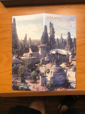 disneyland Star Wars Galaxy's Edge Opening Day Map Limited In Hand Unused