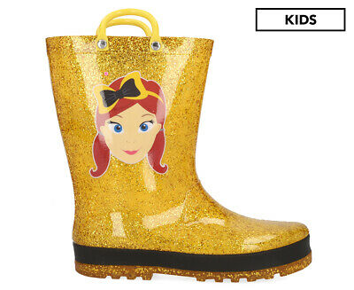 The Wiggles Emma Glitter Gumboot - Gold