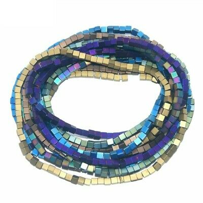 Assorted Dull Polish Natural Stone Cube Square Spacer Beads For Jewelry Making