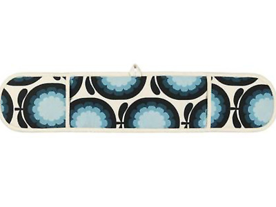ORLA KIELY Cantaloupe MELON PRINT in BLUEBERRY DOUBLE OVEN GLOVES -COTTON -NEW