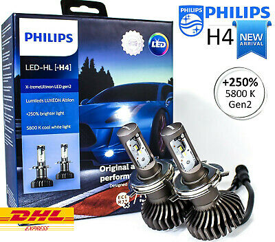H4 PHILIPS LED X tremeUltinon (Pair)