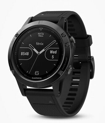 Garmin Fenix ​​5 Sapphire Sports Watch, Black